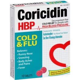 Coricidin HBP Cold & Flu Tablets - 10ct