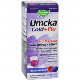Nature's Way Umcka Cold and Flu Sugar-Free Syrup Berry 4 fl oz