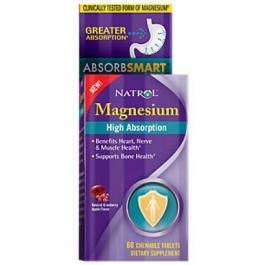 Natrol High Absorption Magnesium Cranberry Apple Chew Tablet - 60ct