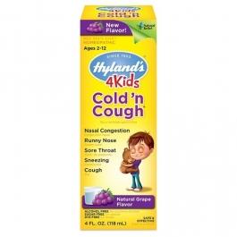 Hylands 4 Kids Cold n Cough Grape Flavor Liquid - 4 fl oz