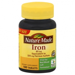 Nature Made Iron 65 mg Dietary Supplement Tablets- 180ct