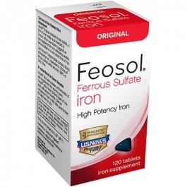Feosol Original Ferrous Sulfate Iron Supplement Tablets - 120ct