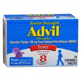Advil Chewable Tablets Junior Strength 100mg Grape 24 Tablets