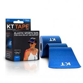 "KT TAPE Original Cotton Elastic Kinesiology Theraeputic Tape Blue - 20 Pre-Cut 10"" Strips"