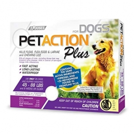 PetAction Plus Large Dog 45-88lbs- 3 Dose