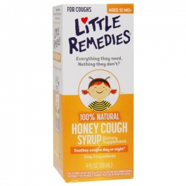 Little Remedies 100% Natural Honey Cough Syrup- 4oz