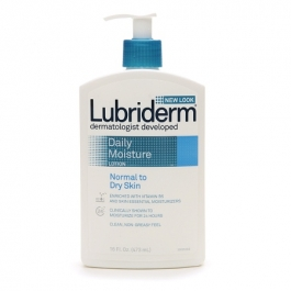 Lubriderm Daily Moisture Lotion for Normal to Dry Skin, Scented- 16oz