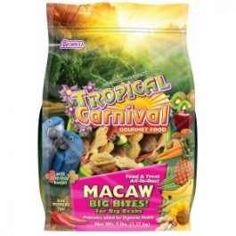 "Brown's Tropical Carnival Gourmet Macaw ""Big Bites"" Food- 3oz  ** Extended Lead Time **"