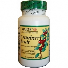 Major Cranberry Fruit 405mg Capsules 60ct
