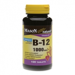 Mason Natural Vitamin B-12 1000mcg, Sublingual Tablets - 100ct Bottle