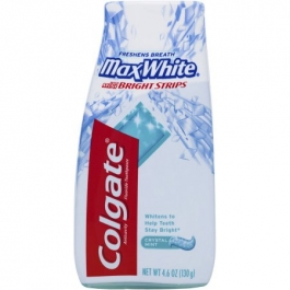 Colgate Max White with Mini Bright Strips Toothpaste Crystal Mint - 4.6oz