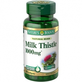 Nature's Bounty Milk Thistle Herbal Supplement 1000 mg Softgels - 50ct