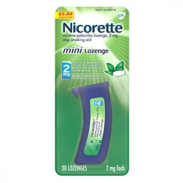 Nicorette Mini Lozenge 2mg, Mint- 20ct