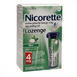 Nicorette Lozenge 4mg, Mint- 24ct