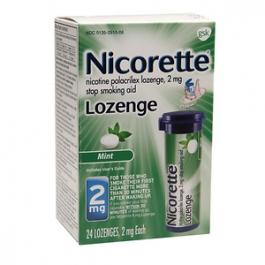 Nicorette Lozenge 2mg, Mint- 24ct
