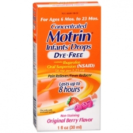 Motrin Infants' Ibuprofen Oral Suspension, Concentrated Drops, Dye-Free, Berry Flavored Drops- 1oz