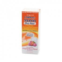 Children's Motrin Ibuprofen Oral Suspension, Dye-Free,  Berry Flavor- 4oz