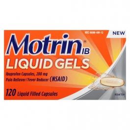 Motrin IB Liquid Gels Ibuprofen, 200mg - 120ct
