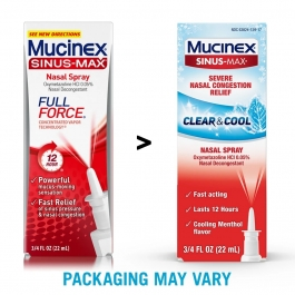 Mucinex Sinus-max Nasal Spray Clear & Cool, 0.75 Oz