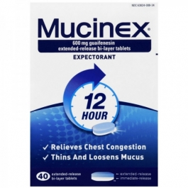 Mucinex Expectorant Extended Release Tablet 600mg 40ct