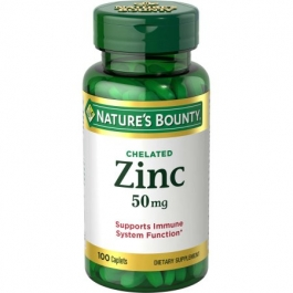 Nature's Bounty Chelated Zinc 50 mg Caplets - 100ct