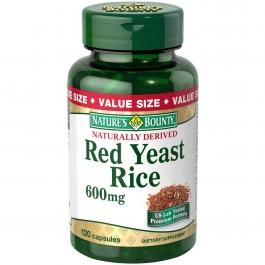 Nature's Bounty Red Yeast Rice 600mg Capsules- 120ct