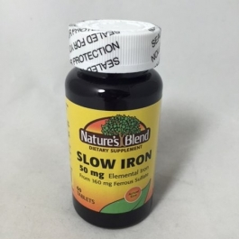 Nature's Blend Slow Iron 50 mg Tablets - 60ct