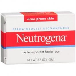 Neutrogena Transparent Facial Bar, Acne-Prone Skin Formula Soap- 3.5oz
