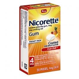 Nicorette Nicotine Gum 4mg Fruit Chill - 20ct