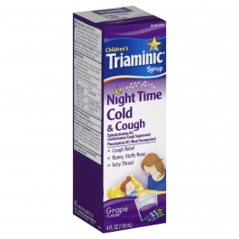 Triaminic Children's Nighttime Cold & Cough Syrup, Grape- 4oz