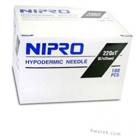 "Nipro Hypodermic Needle 22 Gauge, 1"", 100 Count"