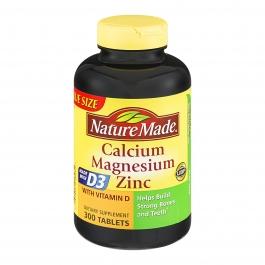 Nature Made Calcium, Magnesium & Zinc, Tablets 300ct