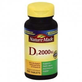 Nature Made Vitamin D3 2000 I.U. Tablets 100ct