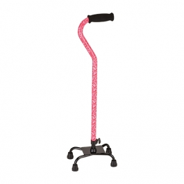 NOVA Medical Products Euro Quad Cane, Roses