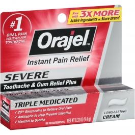 Orajel Severe Toothache Cream 0.33oz