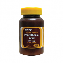 Pantothenic Acid 500 mg Tablet - 100ct