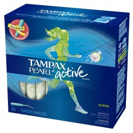 how to put in a tampax pearl active tampon