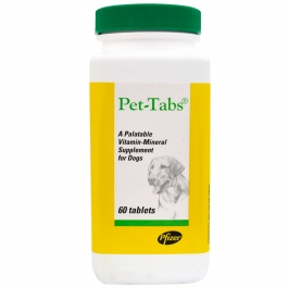 Pet-Tabs Plus Chewable Tablet-60 Count Bottle (Zoetis)