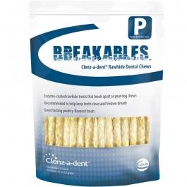 Clenz-a-dent Breakables Rawhide Dental Chews, Petite- 15 Count