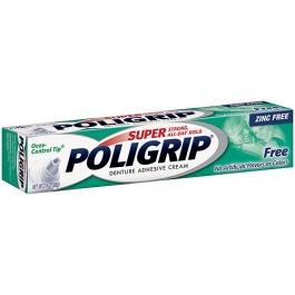 Poli-Grip Free Denture Adhesive Cream 2.4oz