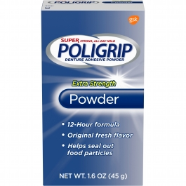 PoliGrip Super Denture Adhesive Powder 1.6oz
