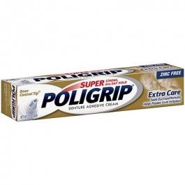 Super PoliGrip Denture Adhesive Cream Extra Care- 2.2oz