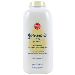 Johnsons Pure Cornstarch Baby Powder Medicated w/Zinc Oxide - 15oz