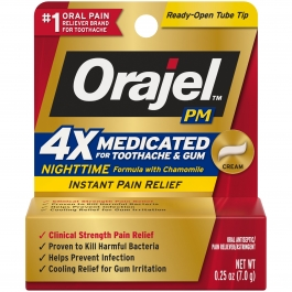 Orajel P.M. 4X Medicated Severe Nighttime Formula Cream - 0.25 oz