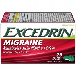 Excedrin Migraine Pain Reliever Geltabs - 20ct