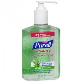 Purell Advanced Hand Sanitizer Pump, Aloe- 8oz