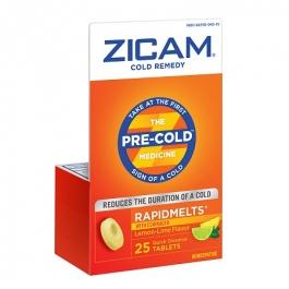 Zicam Cold Remedy RapidMelts Quick Dissolve Tablets Plus Echinacea , Lemon-Lime- 25ct