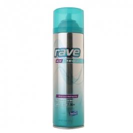 rave 4X Mega Aerosol Hairspray, Scented- 11oz