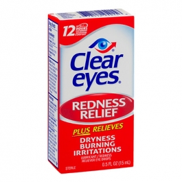 Clear eyes Redness Relief Eye Drops- 0.5oz