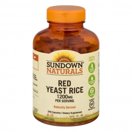 Sundown Naturals Red Yeast Rice 1200mg Capsules- 240ct